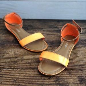 Just Fab Neon Orange Sandals Size 7
